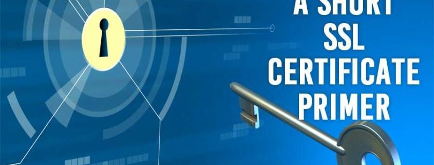 A Short SSL Certificate Primer