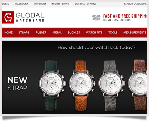 Global Watchband Website