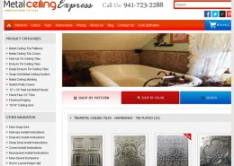 Metal Ceiling Express Website