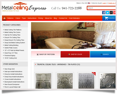 Metal Ceiling Express Website