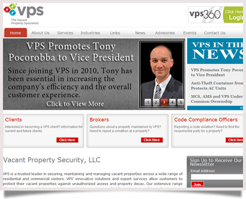 Vacant Property Security Website
