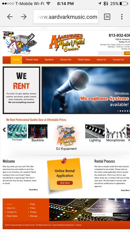 AArdvark Music Website