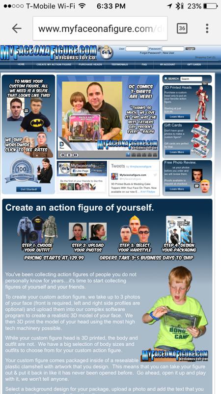 My Face On A Figure Website
